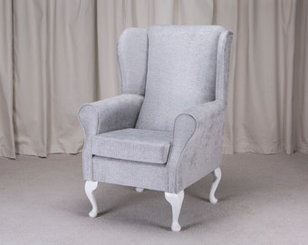 Westoe Armchair in a Oleandro Silver Fabric - Oleandro Silver