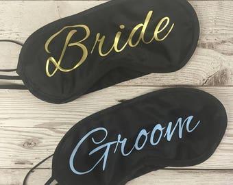 Personalised Eye Mask, Sleeping Mask,Bride to be, Wedding, Hen Party, Travel Mask, Blindfold/ Personalized Mask