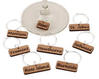 Portland Bridges - Wine Glass Charms