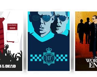 Cornetto Trilogy Set of 3 Art Prints Posters - Many Sizes