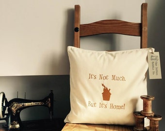 Harry Potter Inspired Cushion 100% Cotton Embroidered Cushion Cover and Pad It's Not Much But It's Home Ron Weasley The Burrow Harry Potter