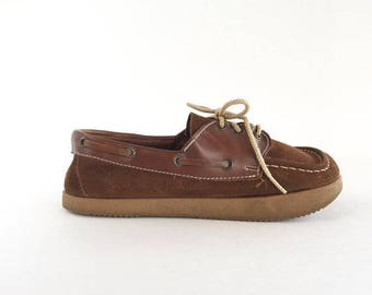 Vintage 70's Chippewa Chief Moccasin Shoes by Mason Shoe Co., Chippewa Chief Suede Moccasin Oxfords by Mason Shoe Company