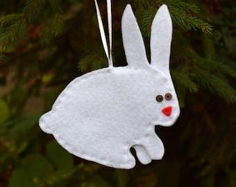 Nursery bunny ornament Easter decor baby felt bunny Nursery decoration first birthday gift Baby bedroom decor Wall hanging Baby shower gift