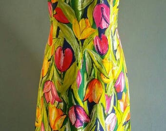 Vintage Malia of Hawaii floral print dress