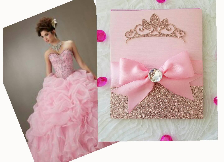 Invitación rosa princesa