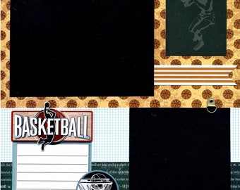 Premade Basketball Scrapbook Page