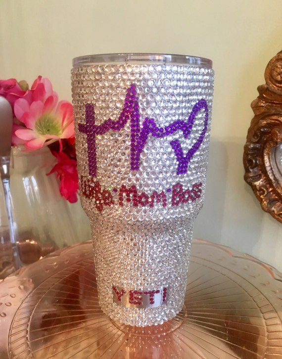 Rhinestone Yeti Rambler 30 oz with Personalization