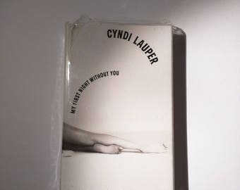 Cyndi Lauper My First Night Without You b side Unabbreviated Love cassette single 1980s