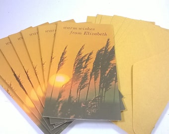 Vintage Warm Wishes From Elizabeth  Name Notes - Greeting Cards Sets of 7 - Notelets - 1970s Soft Touch