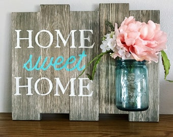 Homemade rustic signs