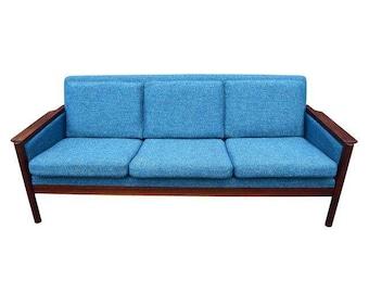 Vintage Danish Mid Century Modern Rosewood Sofa
