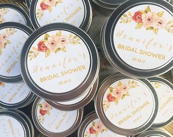 Candle Favors, 4oz Soy Wax, Bridal Shower Favors, Wedding Favors, Baby Shower Favors, Communion Favors, Bachelorette Favors