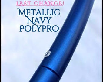 "LAST CHANCE SaLE! 20% Off  5/8"" Metallic Navy Polypro Hoop Or Minis Set! Free Sanding Option."