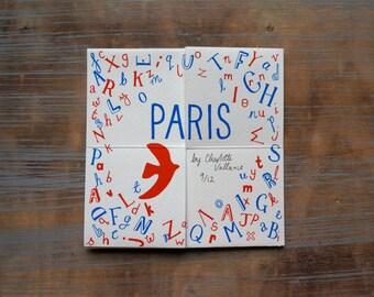 Erstaunliche Faltreifen Paris-Buch