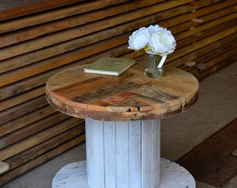 Coffee Table - Cable Reel - Reclaimed - Handmade Furniture