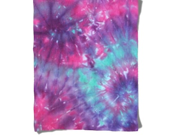Fleece Blanket-Pink Purple Blue -Tie Dye Blanket-Winter Cozy Warm-Decorative Fleece Blanket-Baby Blanket-Medium Large Blanket