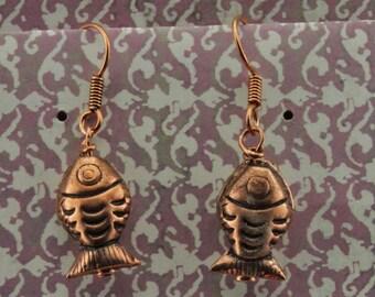 Copper Fish Earrings
