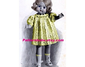 16 18 20 inch Doll Pattern.....Vintage Crochet Dress Pattern...Fits American Girl Doll.....Instant Download PDF D234