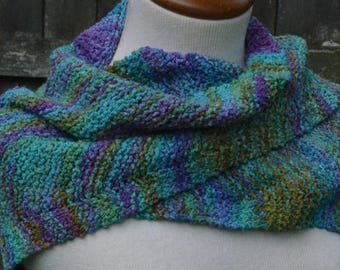 Shawl/Wrap/Cape with Hand Painted Yarn