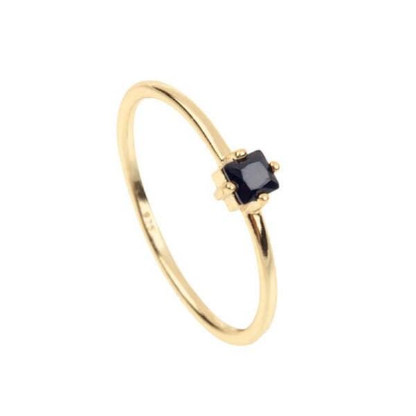 black stone gold ring - photo #14