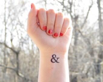 Temporary Tattoo & - Ampersand Tattoo - Wedding Ampersand Sign - And Symbol - Temporary Tattoo Letter