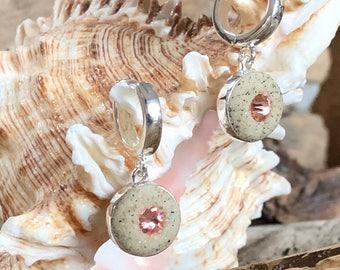 Beach Sand Hoop Earrings