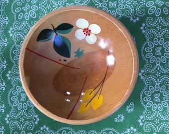 Set of Vintage wooden flower bowls