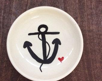 Anchor jewelry dish