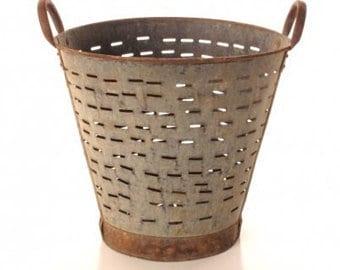 Olive Bucket Basket Turkish Vintage BEST PRICE