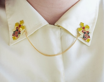 MOTHER & FATHER, Handmade Collar Clips