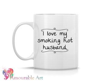 Coffee Mug, Ceramic Mug  Anniversary Gift, Husband Mug, Unique Coffee Mug, 11oz or 15oz Watercolor Art Print Mug Gift, Two-Sided Print