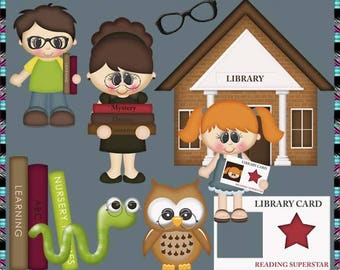 Future Librarian, When I Grow Up Collection - Instant Download - Commercial Use Digital Clipart Elements Graphics Set