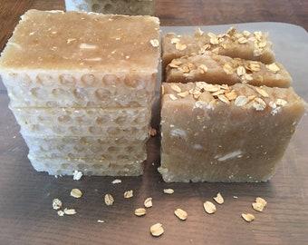 All natural organic Coconut oatmeal Honey soap bar homemade body bar shower bar