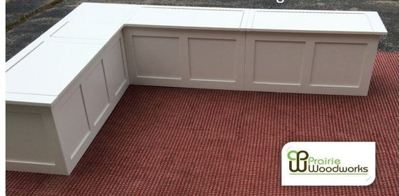 Banquette-Corner Bench Seat Without Lids And Without Storage