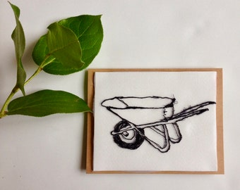 Art Cards---Stitched Wheel Barrel
