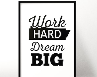 Motivational print/Monochrome print/Black&white poster