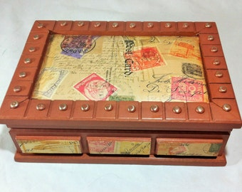 Large Jewelry Box Treasure Chest with Map Mens Jewelry