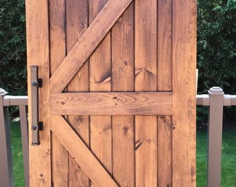 Handcrafted Rustic Barn Sliding Barn Door with Black Rustic Hardware