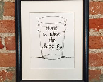 Instant Digital Download, Beer Lovers Wall Art Print, Craft Beer Lovers, Beer Wedding Gifts, Housewarming Gifts, Home Brewers Wall Decor