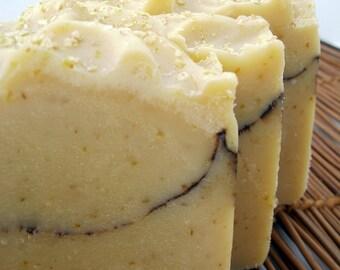 Handmade Soap Honey Almond Wheat Germ  Soap