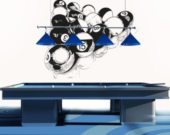 Vinyl Wall Decal Sticker Billiard Balls OSAA681s