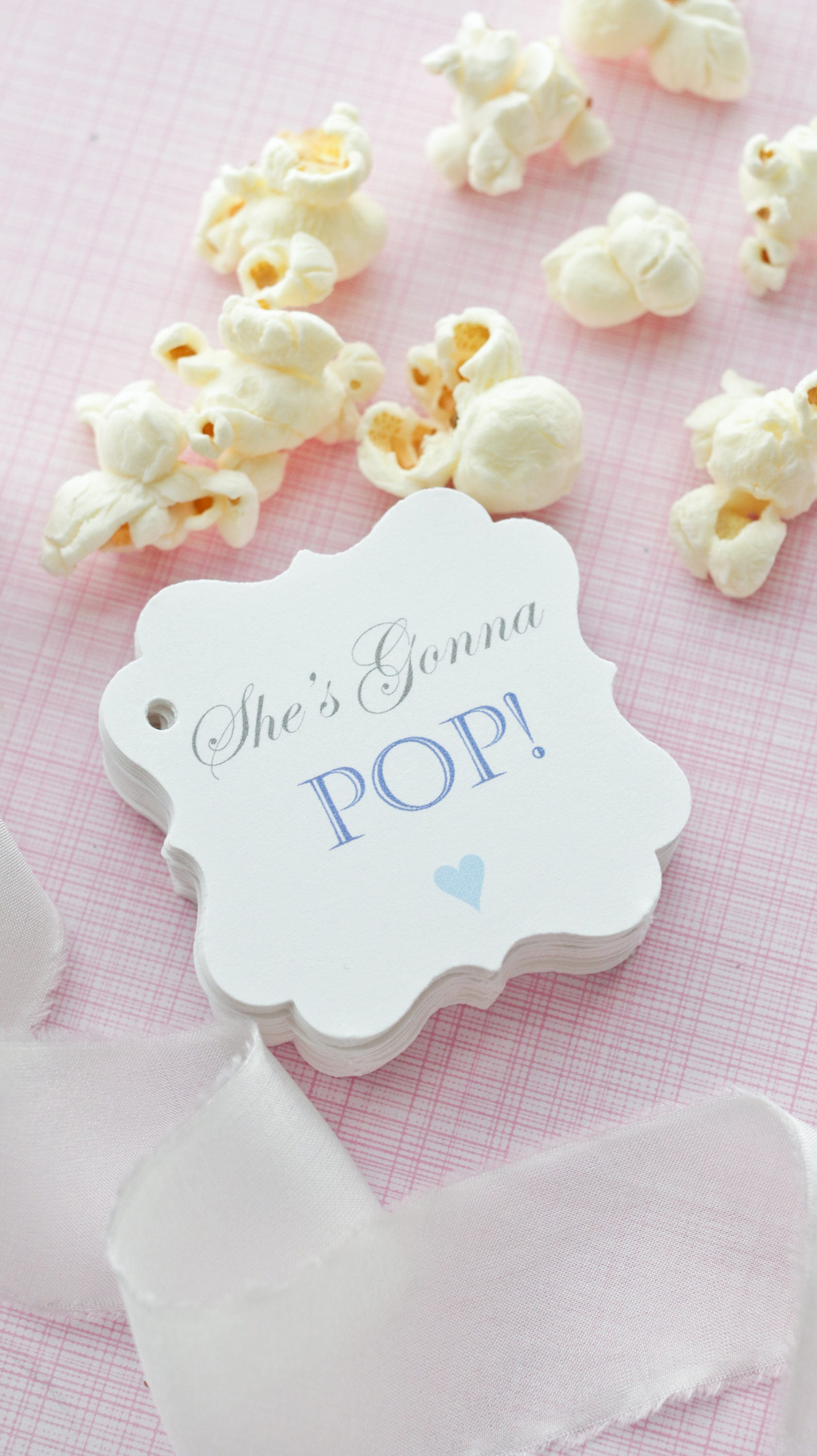 Baby Shower Popcorn Favor Tags-Baby Shower Favor Tag-Baby Shower ...