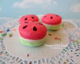 FAUX MACARON Set Watermelon Summer Pink Lime