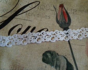 "1 meter of ""lace Ribbon"" 22 mm / white"