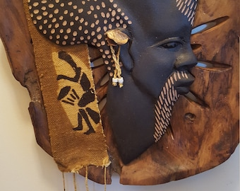 Old Man African Wood Plaque