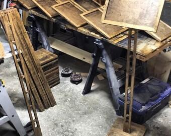 Pedestal Stand 4 Foot Stem Sign Indoor Directional Sign