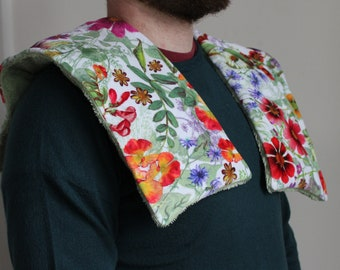 Weighted shoulder wrap ~ Floral shoulder weighted blanket ~ Helps provide relief from restlessness, stress, ache, stiffness and cold.