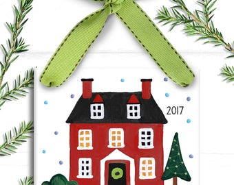 New House Ornament - Our First Home Ornament - Personalized First Home - Housewarming Gift - 1st Christmas in New House Personalized Moving