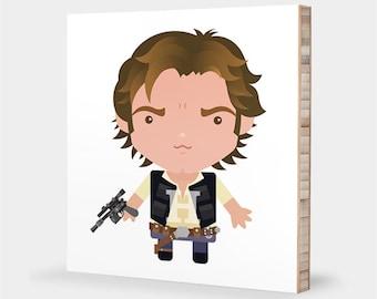 Star Wars wall art print | Han Solo - Star Wars nursery art, Star Wars bedroom kids decor, Star Wars baby - Star Wars ABC bamboo wall art