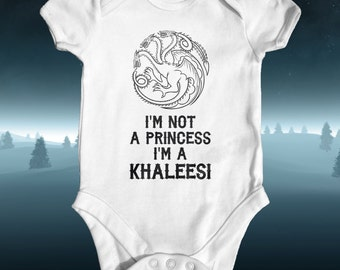 I'm Not A Princess I'm A Khaleesi Baby Bodysuit | Game of Thrones Baby Clothes | Baby Shower Gift | Baby Girl Clothes | Baby Khaleesi Dragon